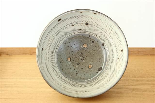 彫三島飯碗 【A】 陶器 額賀円也  画像3