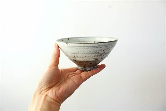彫三島飯碗 【A】 陶器 額賀円也  画像5