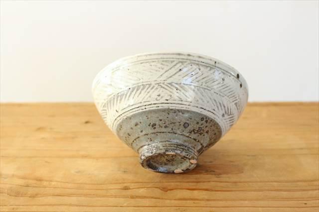 彫三島飯碗 【A】 陶器 額賀円也  画像6