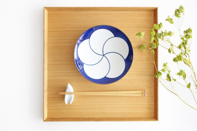 白山陶器 ねじり梅 5寸和皿 磁器 波佐見焼 画像2