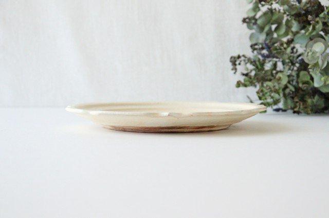 鉄散 7寸彫刻皿 陶器 古谷製陶所 画像2