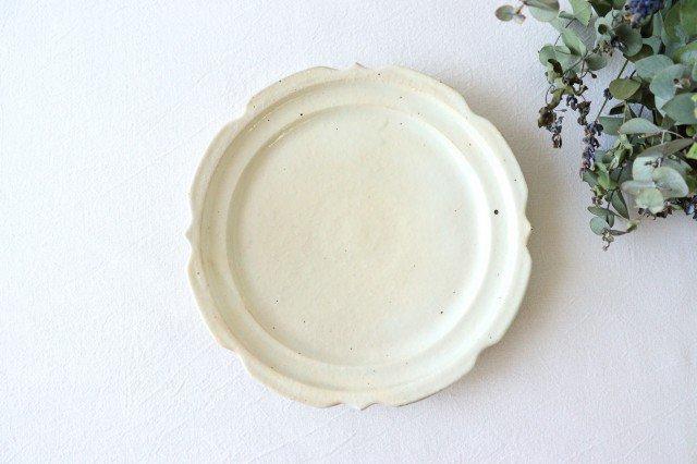 鉄散 7寸彫刻皿 陶器 古谷製陶所 画像4