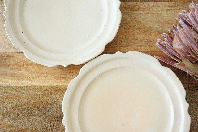鉄散 7寸彫刻皿 陶器 古谷製陶所 画像6