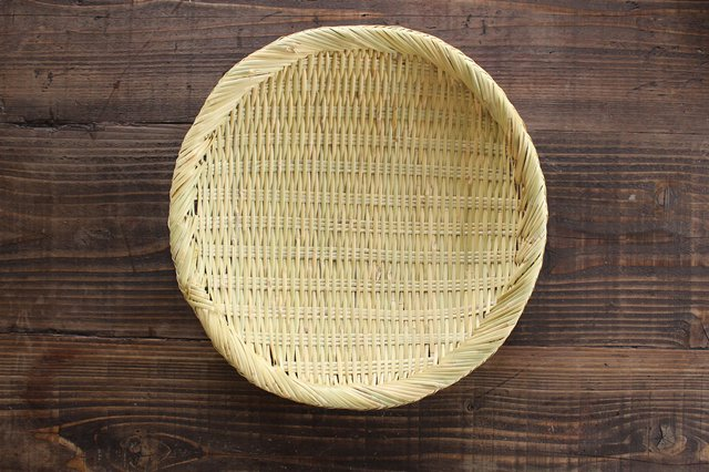 盆ざる 尺 岩手の竹工芸