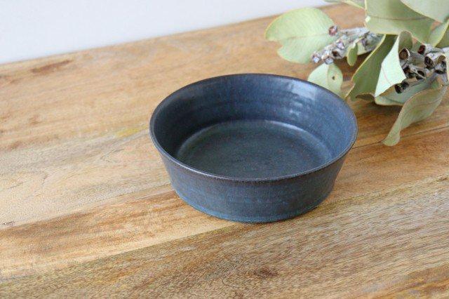 ドラ鉢 大 青黒 陶器 都築明