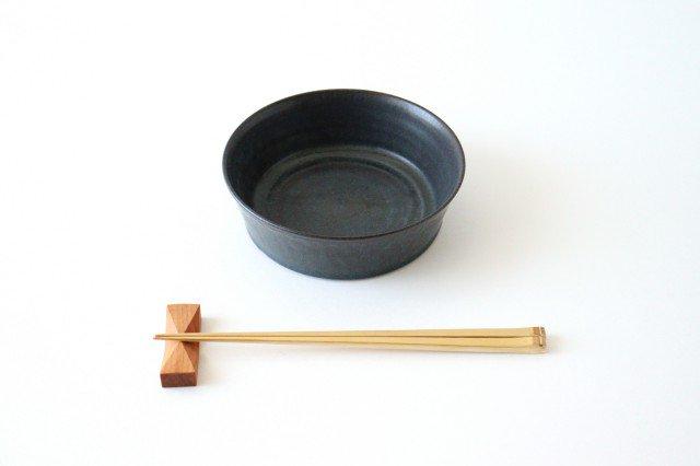 ドラ鉢 大 青黒 陶器 都築明  画像2