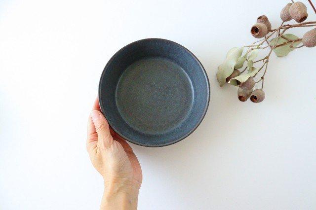 ドラ鉢 大 青黒 陶器 都築明  画像3