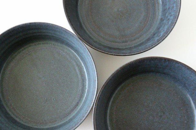 ドラ鉢 大 青黒 陶器 都築明  画像4