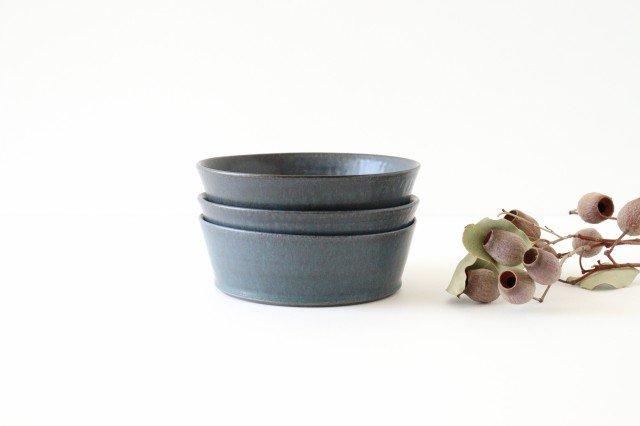 ドラ鉢 大 青黒 陶器 都築明  画像5
