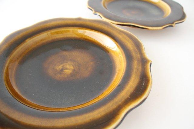 6寸輪花皿 飴釉 陶器 はなクラフト 画像6