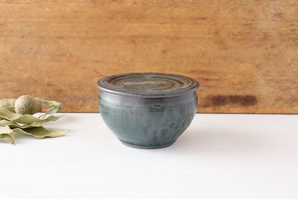 塩壺 青黒 陶器 都築明 商品画像