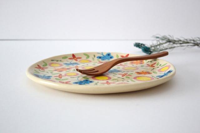 【一点もの】色絵付け大皿 【A】 陶器 工房双子堂 やちむん 画像2