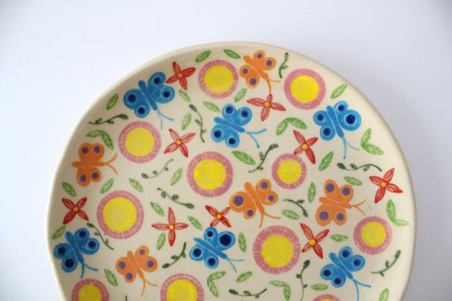 【一点もの】色絵付け大皿 【A】 陶器 工房双子堂 やちむん 画像5