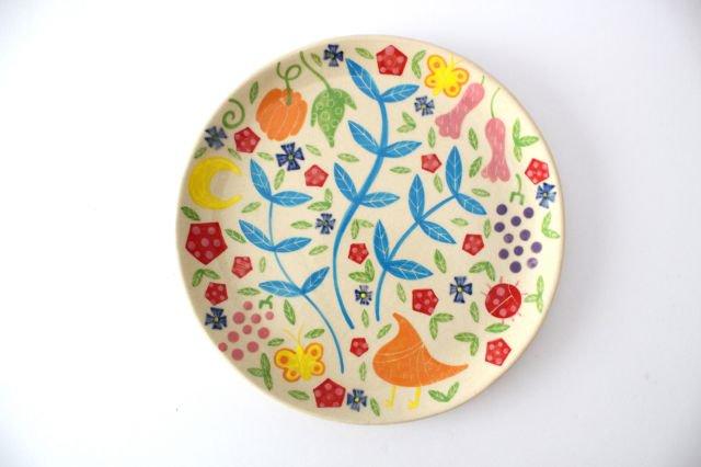 【一点もの】色絵付け大皿 【B】 陶器 工房双子堂 やちむん