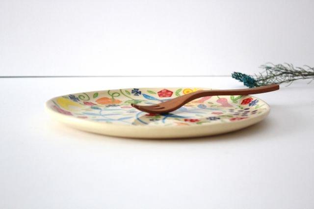 【一点もの】色絵付け大皿 【B】 陶器 工房双子堂 やちむん 画像2
