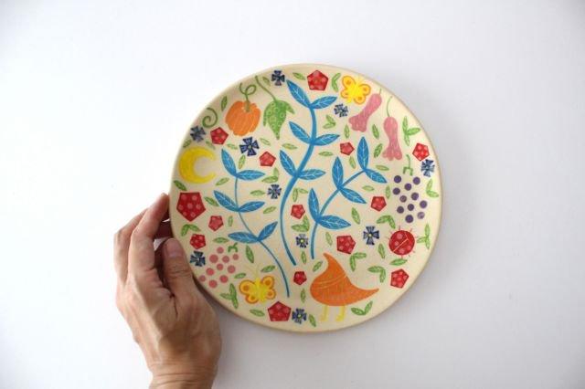 【一点もの】色絵付け大皿 【B】 陶器 工房双子堂 やちむん 画像6