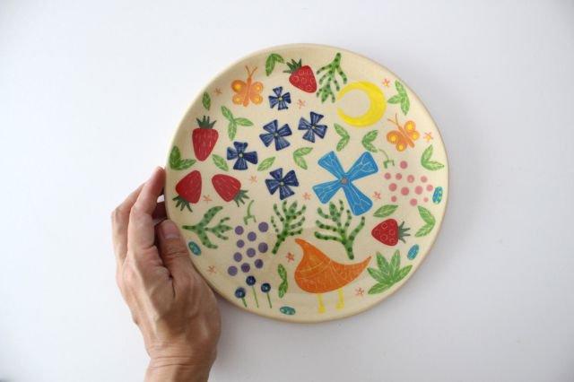 【一点もの】色絵付け大皿 【C】 陶器 工房双子堂 やちむん 画像6