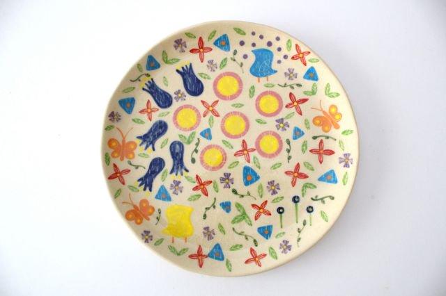 【一点もの】色絵付け大皿 【D】 陶器 工房双子堂 やちむん