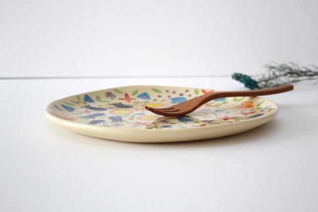 【一点もの】色絵付け大皿 【D】 陶器 工房双子堂 やちむん 画像2
