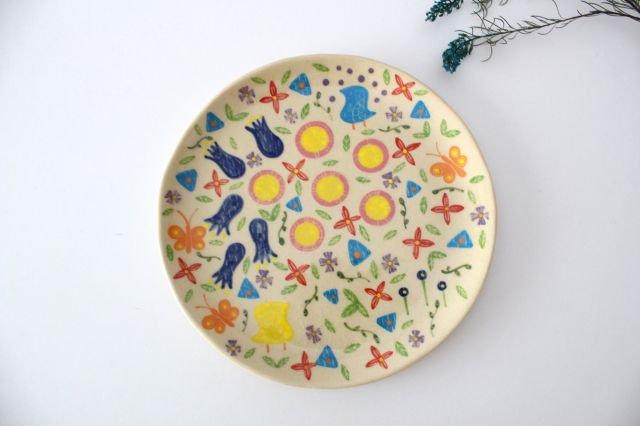 【一点もの】色絵付け大皿 【D】 陶器 工房双子堂 やちむん 画像3