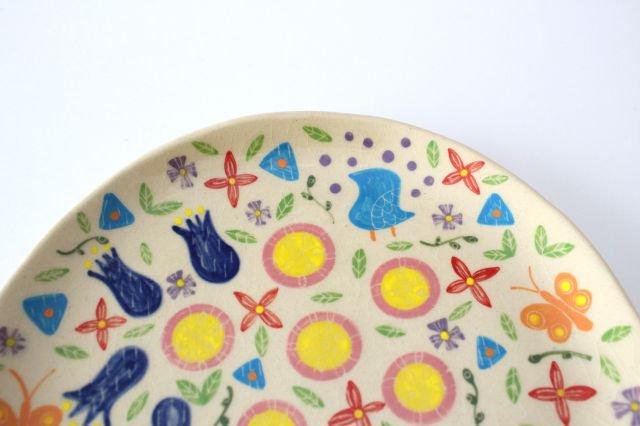 【一点もの】色絵付け大皿 【D】 陶器 工房双子堂 やちむん 画像4