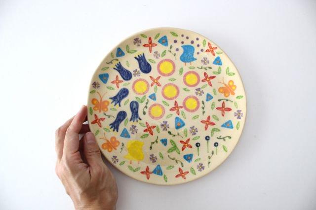 【一点もの】色絵付け大皿 【D】 陶器 工房双子堂 やちむん 画像6