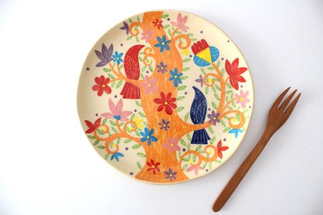 【一点もの】色絵付け大皿 【E】 陶器 工房双子堂 やちむん 画像3