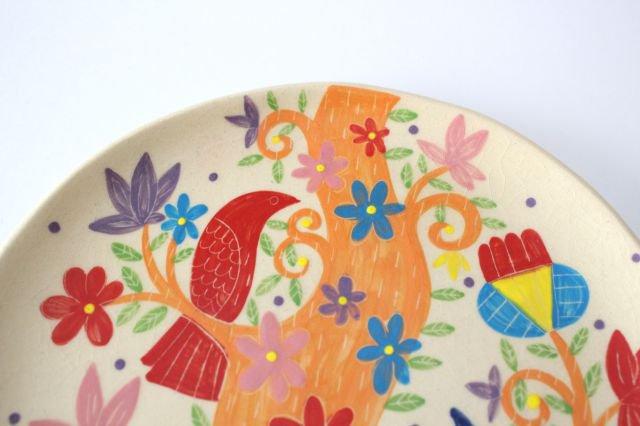 【一点もの】色絵付け大皿 【E】 陶器 工房双子堂 やちむん 画像4