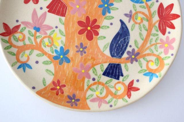 【一点もの】色絵付け大皿 【E】 陶器 工房双子堂 やちむん 画像5