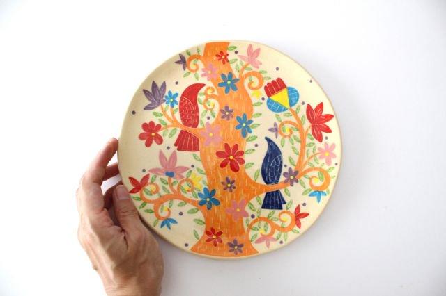 【一点もの】色絵付け大皿 【E】 陶器 工房双子堂 やちむん 画像6