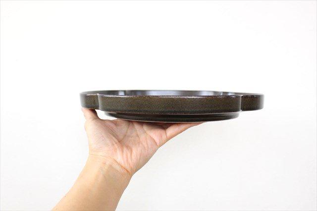 美濃焼 つどい鉢 木瓜浅鉢 鉄くろ釉 瑞々 磁器  画像2