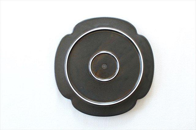 美濃焼 つどい鉢 木瓜浅鉢 鉄くろ釉 瑞々 磁器  画像3