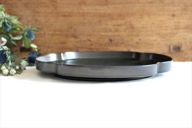 美濃焼 つどい鉢 木瓜浅鉢 鉄くろ釉 瑞々 磁器  画像4