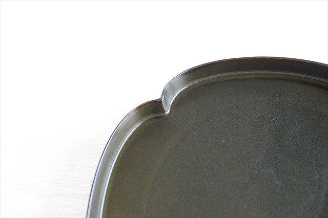 美濃焼 つどい鉢 木瓜浅鉢 鉄くろ釉 瑞々 磁器  画像6