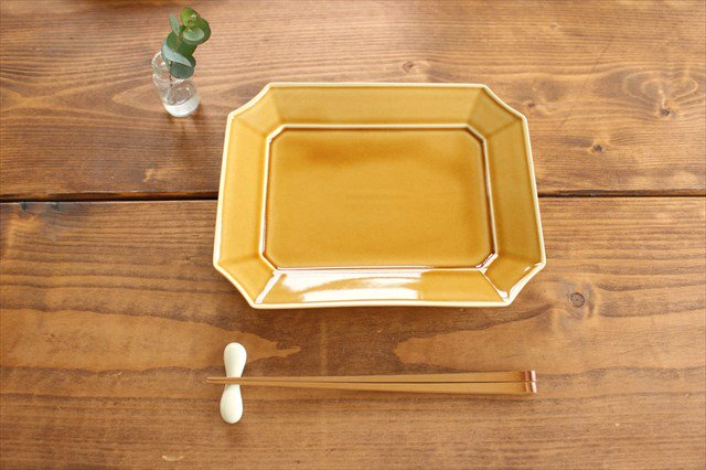 角皿 大 格子 陶器 一翠窯 画像4