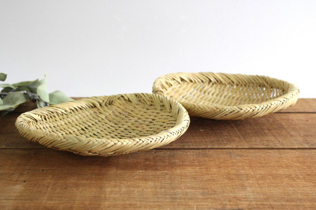 盆ざる 7寸 岩手の竹工芸 画像5