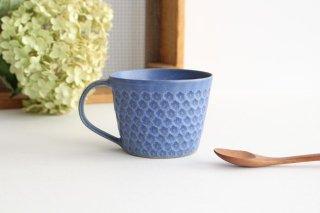 印花マグカップ 青 陶器 武曽健一商品画像
