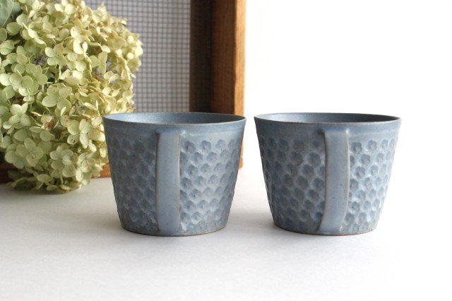 印花マグカップ 灰 陶器 武曽健一 画像3