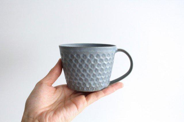 印花マグカップ 灰 陶器 武曽健一 画像4