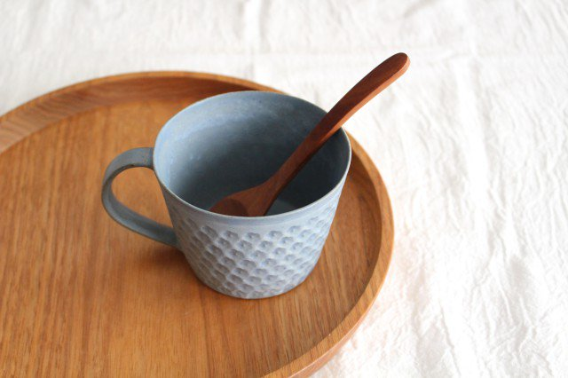 印花マグカップ 灰 陶器 武曽健一 画像5
