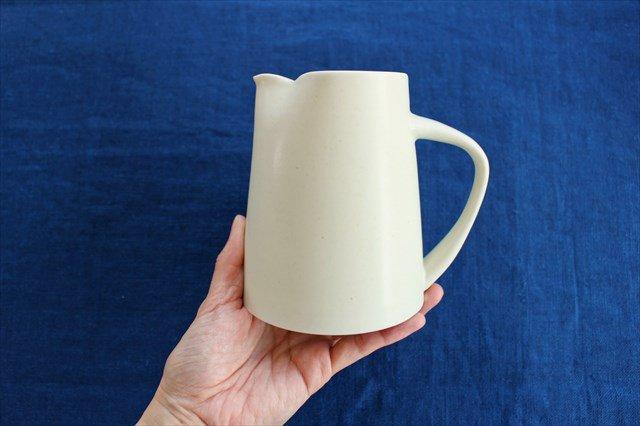 flat jug アイボリー 磁器 KANEAKI SAKAI POTTERY 画像4