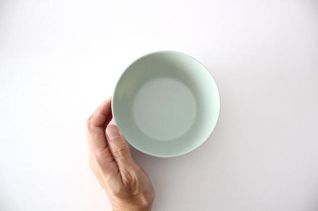 flat bowl ペールブルー 磁器 KANEAKI SAKAI POTTERY 画像2