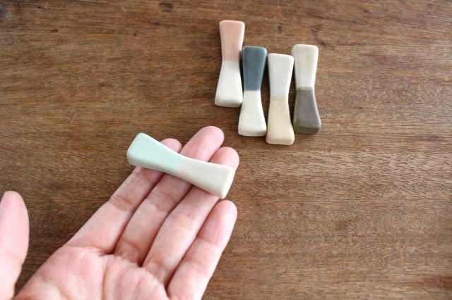 ブロックプレート 粉引 陶器 伊藤豊 画像6