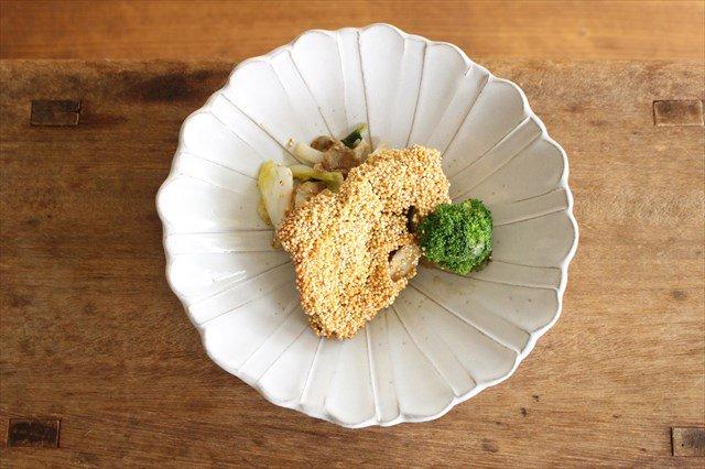 美濃焼 モチーフ ガーベラ 6寸鉢 陶器
