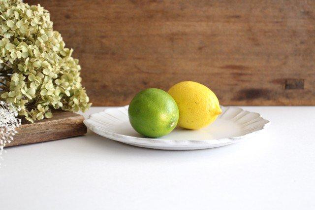 美濃焼 モチーフ ガーベラ 7寸皿 陶器 画像2