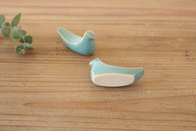 益子焼 鳥箸置き 益子青磁釉 陶器 画像6