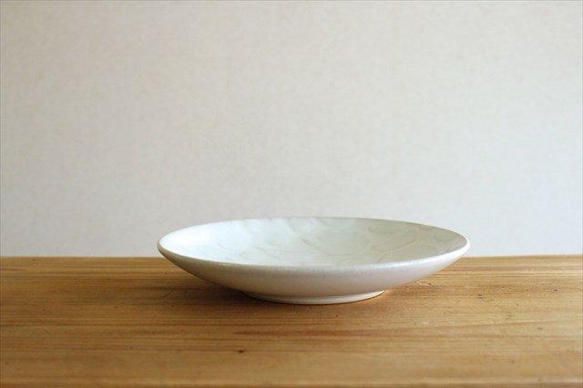 益子焼 レリーフ マルチプレート 糠白釉 陶器 画像3