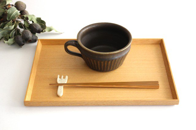 錆釉 しのぎ手付切立スープカップ 陶器 古谷製陶所 画像2