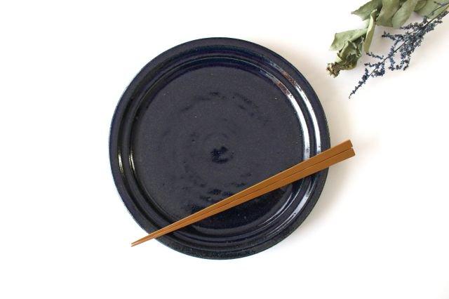 瑠璃釉 7寸皿 陶器 古谷製陶所 画像3