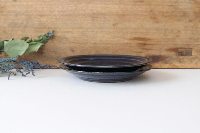 瑠璃釉 5寸皿 陶器 古谷製陶所 画像4